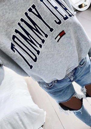 Tommy Hilfiger Denim Shirt met print zwart-grijs Katoen