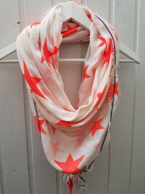 Hilfiger Fringed Scarf natural white-neon orange