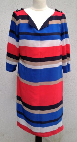 * TOMMY HILFIGER * TUNIKA KLEID Streifen blau rot weiß Polyester Gr 8 / 38 40 M