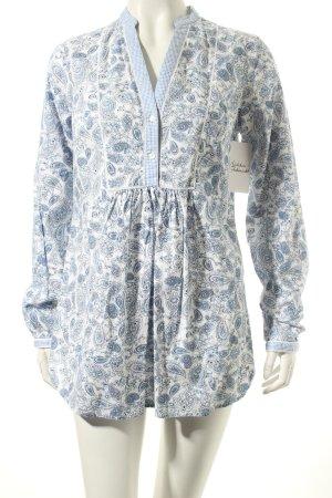 Tommy Hilfiger Tunika weiß-kornblumenblau florales Muster Casual-Look