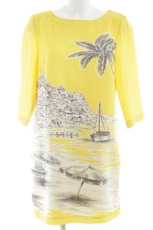 Tommy Hilfiger Abito a tunica giallo scuro stampa stile casual