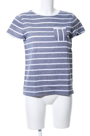 Tommy Hilfiger Boothalsshirt blauw-wit gestippeld casual uitstraling