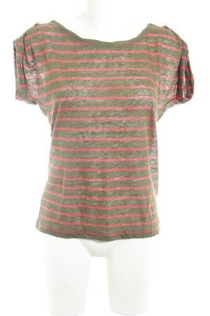 Tommy Hilfiger U-Boot-Shirt ocker-rot Streifenmuster Casual-Look