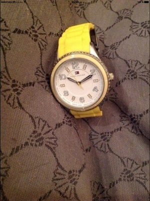 Tommy Hilfiger Watch Clasp white-yellow