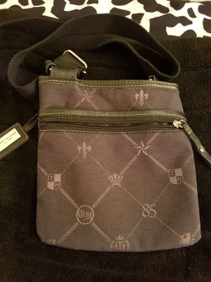Tommy Hilfiger Crossbody bag taupe-anthracite mixture fibre