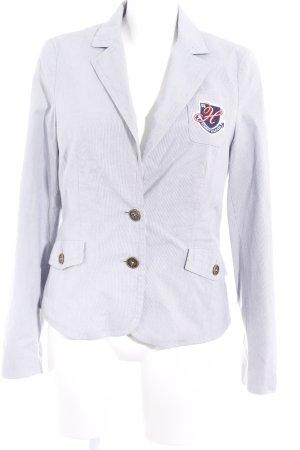 Tommy Hilfiger Blazer unisexe blanc-bleuet motif rayé style marin