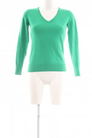 Tommy Hilfiger V-Ausschnitt-Pullover grün Casual-Look