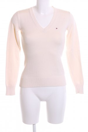 Tommy Hilfiger V-Ausschnitt-Pullover creme Casual-Look