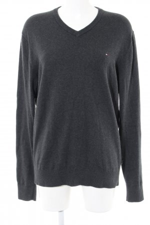 begrenzter Stil zu verkaufen exklusive Schuhe Tommy Hilfiger V-Ausschnitt-Pullover hellgrau meliert Casual-Look
