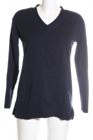 Tommy Hilfiger V-Ausschnitt-Pullover blau Business-Look