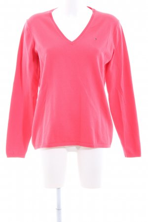 Tommy Hilfiger V-Neck Sweater red casual look