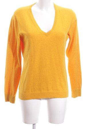 Tommy Hilfiger V-Neck Sweater light orange casual look