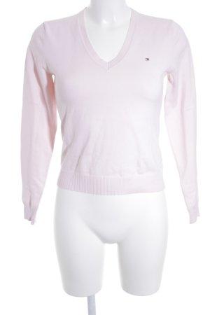 Tommy Hilfiger V-Ausschnitt-Pullover altrosa schlichter Stil