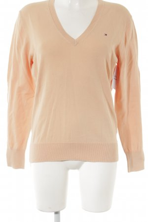 Tommy Hilfiger V-Ausschnitt-Pullover apricot Casual-Look