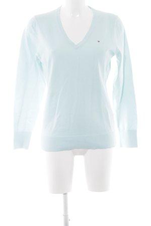 Tommy Hilfiger V-Ausschnitt-Pullover babyblau Casual-Look