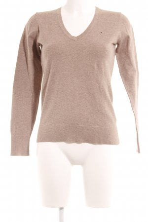 Tommy Hilfiger V-Ausschnitt-Pullover beige Casual-Look