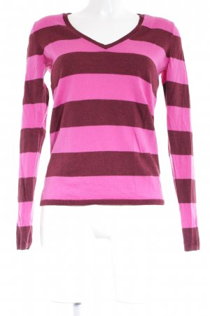 Tommy Hilfiger V-halstrui bordeaux-roze gestippeld casual uitstraling