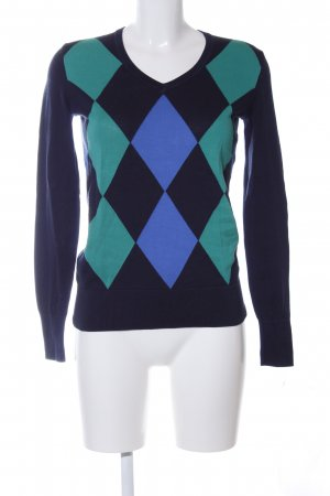 Tommy Hilfiger V-Ausschnitt-Pullover Allover-Druck Business-Look