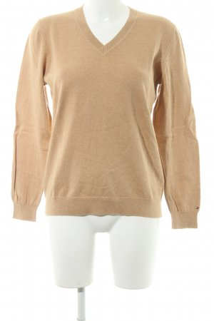 Tommy Hilfiger V-Neck Sweater camel casual look