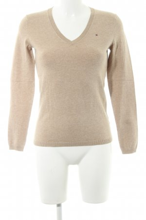 Tommy Hilfiger V-Neck Sweater camel flecked casual look