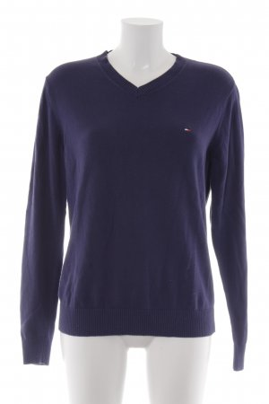 Tommy Hilfiger V-Ausschnitt-Pullover dunkelblau Casual-Look