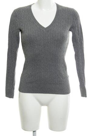 Tommy Hilfiger V-Ausschnitt-Pullover dunkelgrau meliert Casual-Look