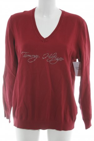 Tommy Hilfiger V-Neck Sweater dark red casual look