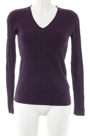 Tommy Hilfiger V-Neck Sweater dark violet casual look