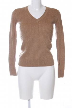 Tommy Hilfiger V-Ausschnitt-Pullover bronzefarben Casual-Look