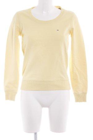 Tommy Hilfiger Maglione con scollo a V giallo stile casual