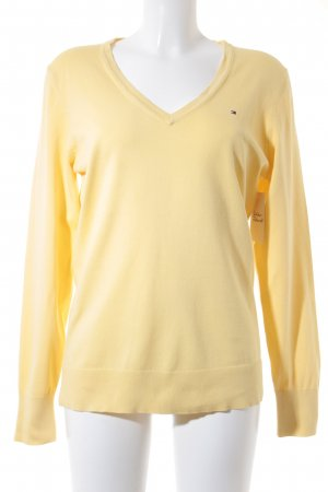 Tommy Hilfiger V-Ausschnitt-Pullover gelb Casual-Look