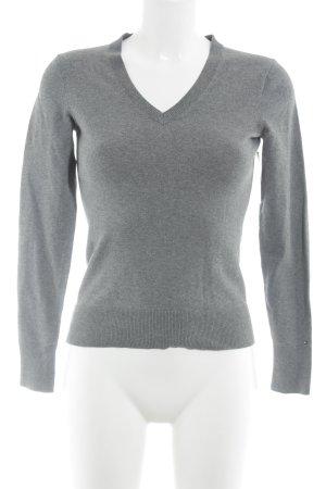 Tommy Hilfiger V-Ausschnitt-Pullover grau Casual-Look