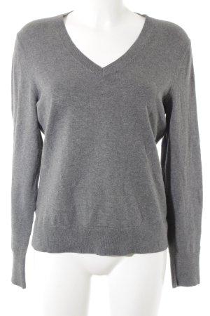 Tommy Hilfiger V-Ausschnitt-Pullover grau-khaki klassischer Stil