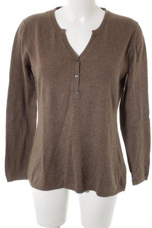 Tommy Hilfiger V-Ausschnitt-Pullover graubraun Casual-Look