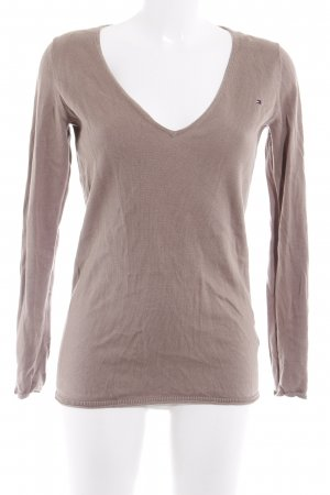 Tommy Hilfiger V-Neck Sweater light brown casual look