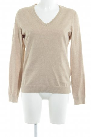 Tommy Hilfiger V-Ausschnitt-Pullover hellgelb meliert Casual-Look