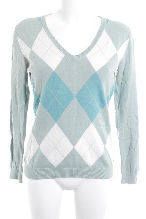 Tommy Hilfiger V-Neck Sweater check pattern classic style