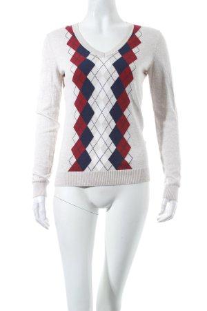 Tommy Hilfiger V-Ausschnitt-Pullover Karomuster klassischer Stil