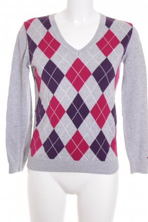 Tommy Hilfiger V-Neck Sweater check pattern classic style