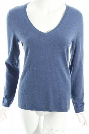 Tommy Hilfiger V-Ausschnitt-Pullover kornblumenblau Casual-Look