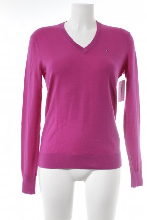 Tommy Hilfiger V-Neck Sweater magenta casual look