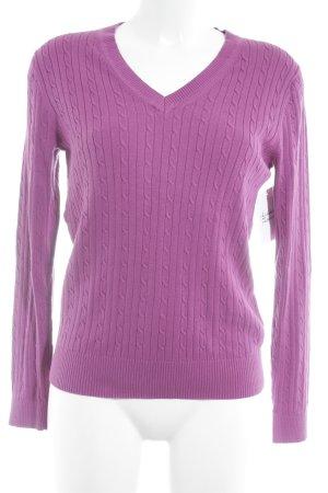Tommy Hilfiger V-Ausschnitt-Pullover magenta klassischer Stil