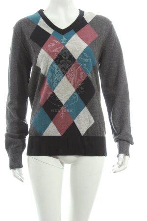 Tommy Hilfiger V-Ausschnitt-Pullover mehrfarbig Brit-Look