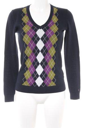 Tommy Hilfiger V-Ausschnitt-Pullover mehrfarbig Casual-Look