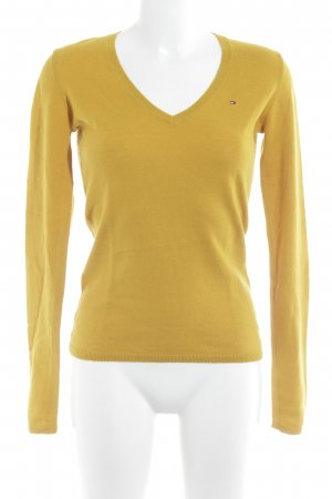 Tommy Hilfiger V-Ausschnitt-Pullover mehrfarbig schlichter Stil