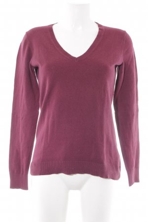 Tommy Hilfiger V-Neck Sweater purple casual look