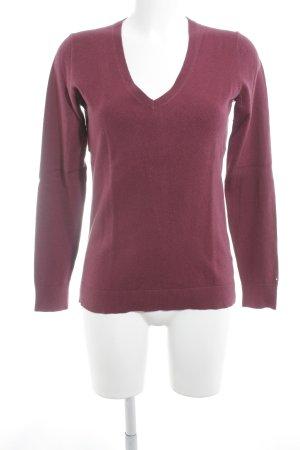 Tommy Hilfiger V-Ausschnitt-Pullover purpur Casual-Look