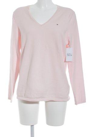 Tommy Hilfiger V-Ausschnitt-Pullover rosa Casual-Look