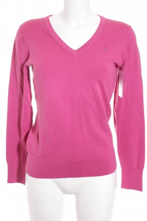 Tommy Hilfiger V-Neck Sweater pink classic style