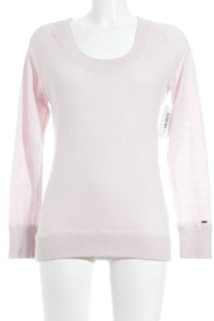 Tommy Hilfiger V-Ausschnitt-Pullover rosé Romantik-Look